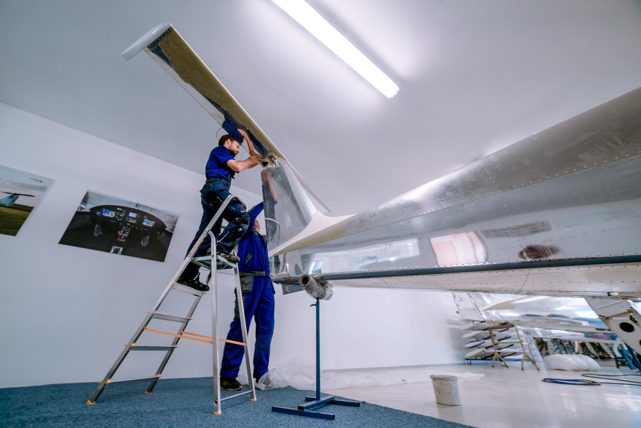 Výroba DV-1 Skylark